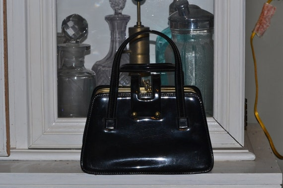Patent Leather 3 section Handbag