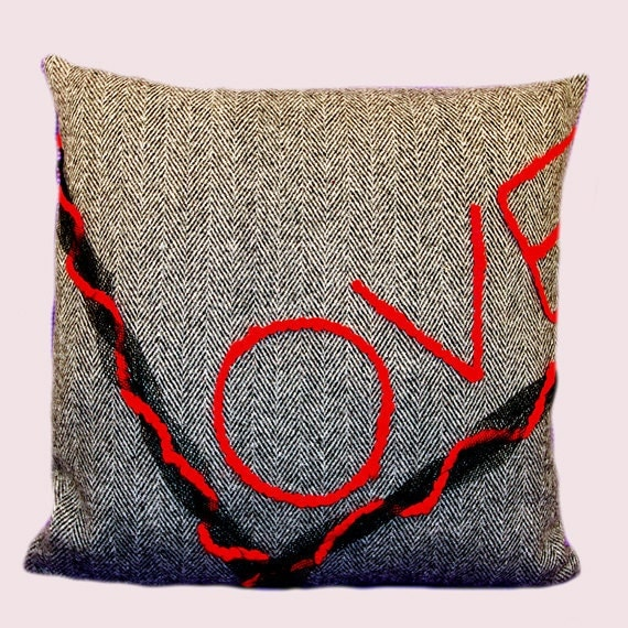 Decorative Love Pillow : Decorative Pillow case LOVE Throw pillow case