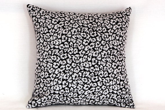 """Black white Tapestry Throw pillow case, fits 18""""x18"""" insert, Cushion case, Toss pillow case"""