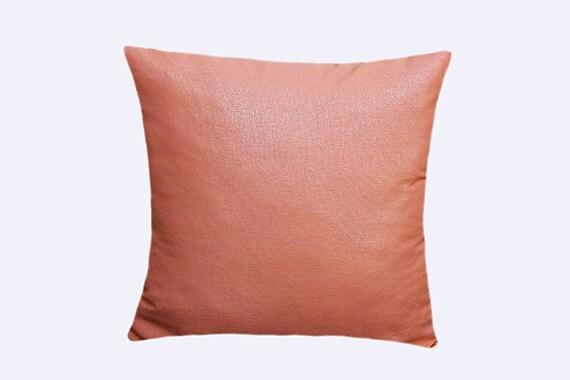 Decorative Pillow case shiny surface cotton light Orange