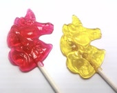 Buy 12 Get 12 Free - UNICORN LOLLIPOPS - Pick Any Colors and Flavors