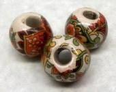 Vintage 1970's Handmade Ceramic Beads