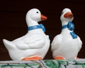 Porcelain Geese Salt and Pepper Shakers