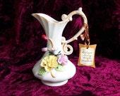 Vintage Arnart Ivory Bisque Porcelain Ceramic Vase