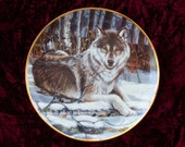 Eyes of Midnight by Cassandra Graham Wolf Plate The Franklin Mint
