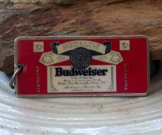 Vintage Budweiser Beer Official Keychain