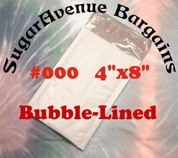 """50 Size 000 4 x 8 Shipping Poly Bubble Mailers Bags Envelopes NEW 4""""x8"""""""