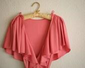 Rose Petal Dress - 70s Pearl Pink Wrap Dress