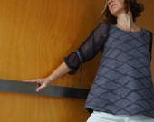 Grey top / tunic, maternity top, nuno felted, natural designer clothing, eco friendly clothing, funky women's clothing