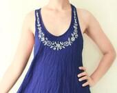 SALE.. Mini Beach Dress/ Top in Blue