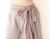 Cotton Elastic Waist Pants in Gray