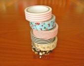 Set of 6 fabric tapes(floral & stripe)