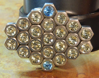 Handmade Belt Buckle made from Hex nuts style Adrienne