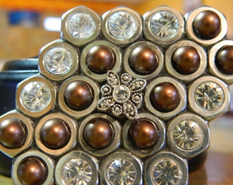 OOAK Hex Nut Belt Buckle with bling