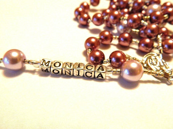 Personalized Rosary Baptism, Communion, Confirmation, Wedding, Memorial, New Baby, Mother's Day