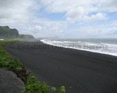 Iceland: Beach at Vik, fine art photographic print