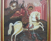 St. George and the Dragon  - Gobelin Tapestry - Needlepoint Needlework