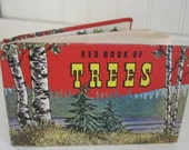 Vintage 1948 Red Book of Trees