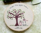 Embroidery Pattern PDF Apple Tree Mom Daughter Fall Autumn Pattern