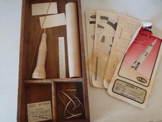 Specimen No. 3R672  Vintage Saturn V Rocket Kit Fly Me To The Moon