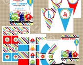 Monster Birthday Party Collection Printable party by Luv Bug Design