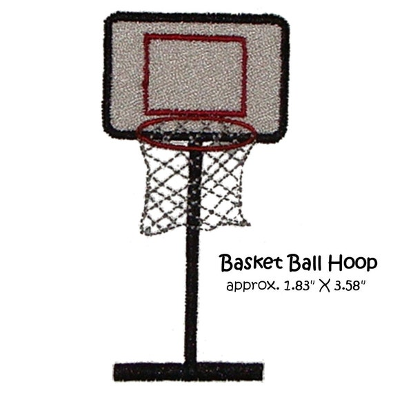 Machine embroidery basket ball hoop basketball single