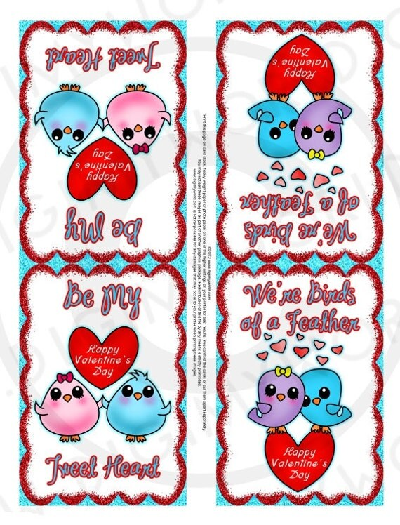 Items similar to Valentines Day PRINTABLE sheet cards for kids – Valentines Day Card Sayings for Kids