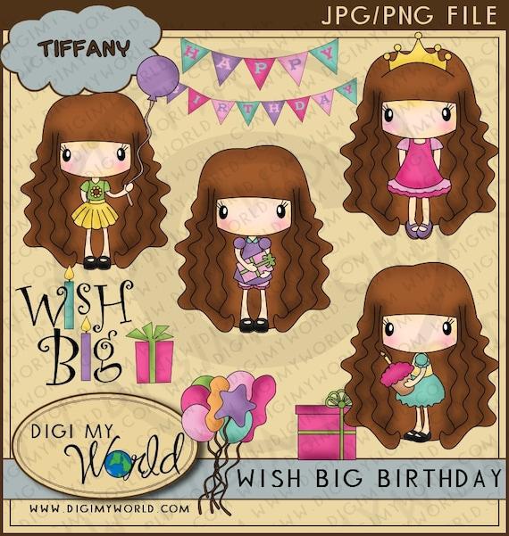 Items Similar To Birthday Party Chibi Tiffany Girl Happy