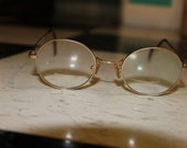 Vintage Round Christian De Roz Round Glasses Gold Matt Stainless Steel