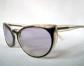 Tinted cat eye glasses, made in France by IDC