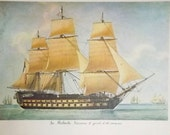 Ship print from the series Portraits de Navires - Le Robuste