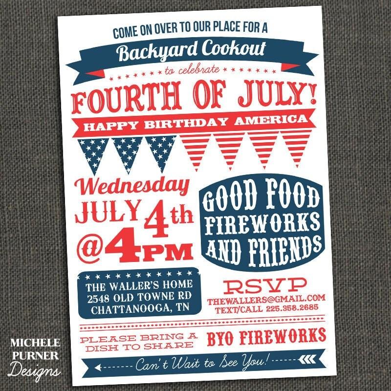 fourth of july birthday invitations
