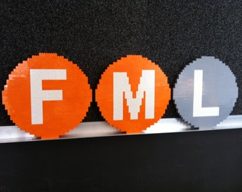 FML Metro Signs Lego Paintings