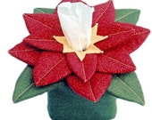 The Original Sneezes Poinsettia Flower Sewing Pattern Tissue Box Cover