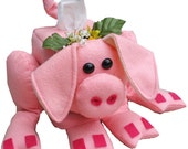 The Original Sneezes Pig Sewing Pattern Tissue Box Cover
