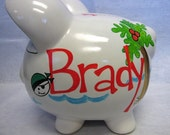 Personalized Piggy Bank- A Pirates Life for ME