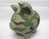 Personalized Piggy Bank Camoflauge