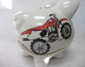 Personalized Piggy Bank Motorcycle/Dirt Bike