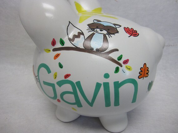 Personalized Piggy Bank Carters Forest Friends