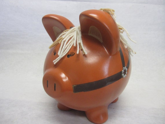 Personalized Piggy Bank Custom Horse