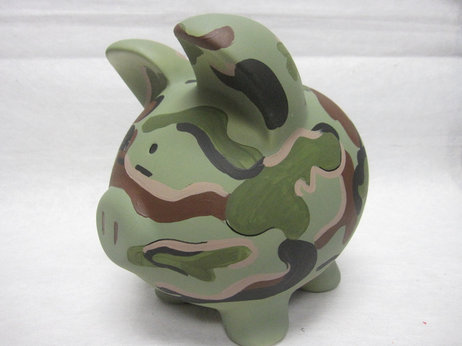 Personalized piggy bank camoflauge - Piggy bank without stopper ...