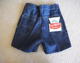Stanforized Shorts 100 Cotton Denim Vtg Size 12 XS S