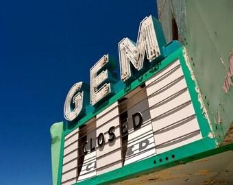 Gem Theatre Marquee  2588  Fine Art Digital Photo 8x10