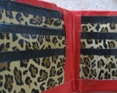 WALLET DUCT tape animal print and red