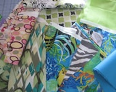 Fabric scraps pieces for quilting sewing MIXED prints  doll clothes crafts and many other projects 40