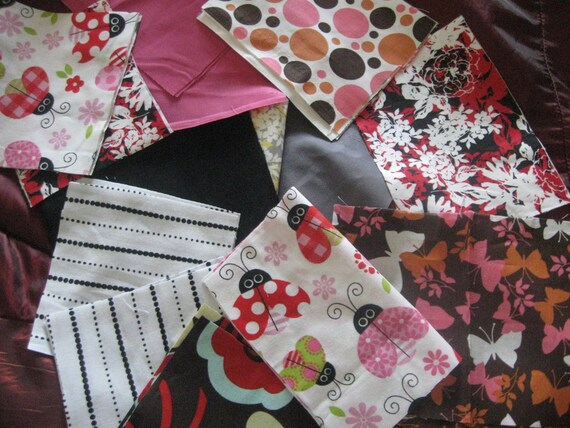 custom listing for ROBERTA Fabric scraps pieces for quilting sewing doll ia