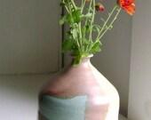 Handmade stoneware flower bud vase