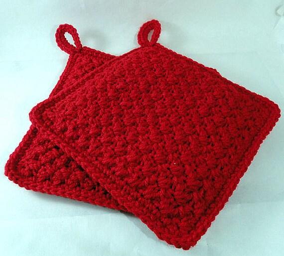 Hand Crocheted Potholders Set of 2