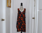 SOLD  Witch Hats, Broomsticks and Pumpkins  Woman Wrap Apron