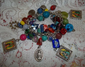 Our Lady Guadalupe Charm Bracelet  by JennyClay free shipping US